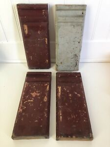 Two Pairs of Plinth Blocks Door Trim Architectural Salvage