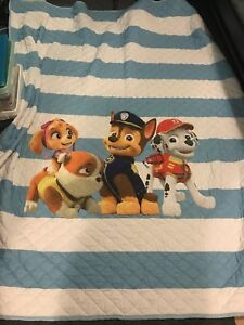 Double bed comforter and pillow case set Pawpatrol