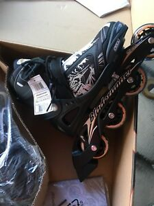 Adjustable youth rollerblades