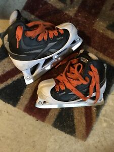 Junior hockey goalie skates size 2 and size 3 for sale