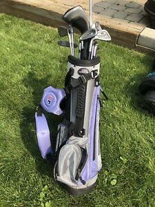 Kid left handed golf clubs with bag