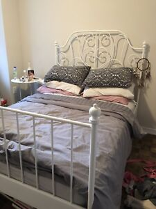 Twin size bed frame & side table