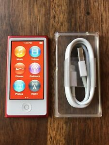 Limited Edition 7th Gen Red iPod Nano 16GB + New Accessories