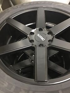 """KMC 22"""" wheels with Brand New Goodyear Tires"""