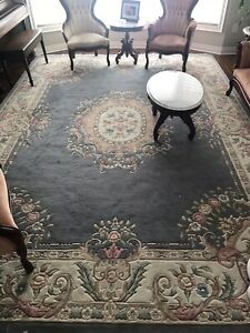 Two hand knotted wool rugs
