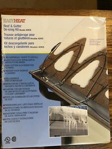 Roof and gutter de-icing kit