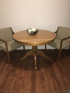 Extendable Solid Oak Table and 2 Chairs!!!