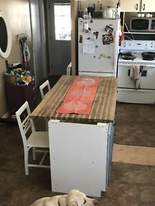 Butcher block counter top