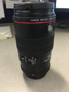 Canon 100mm macro 2.8 L IS USM **echange**