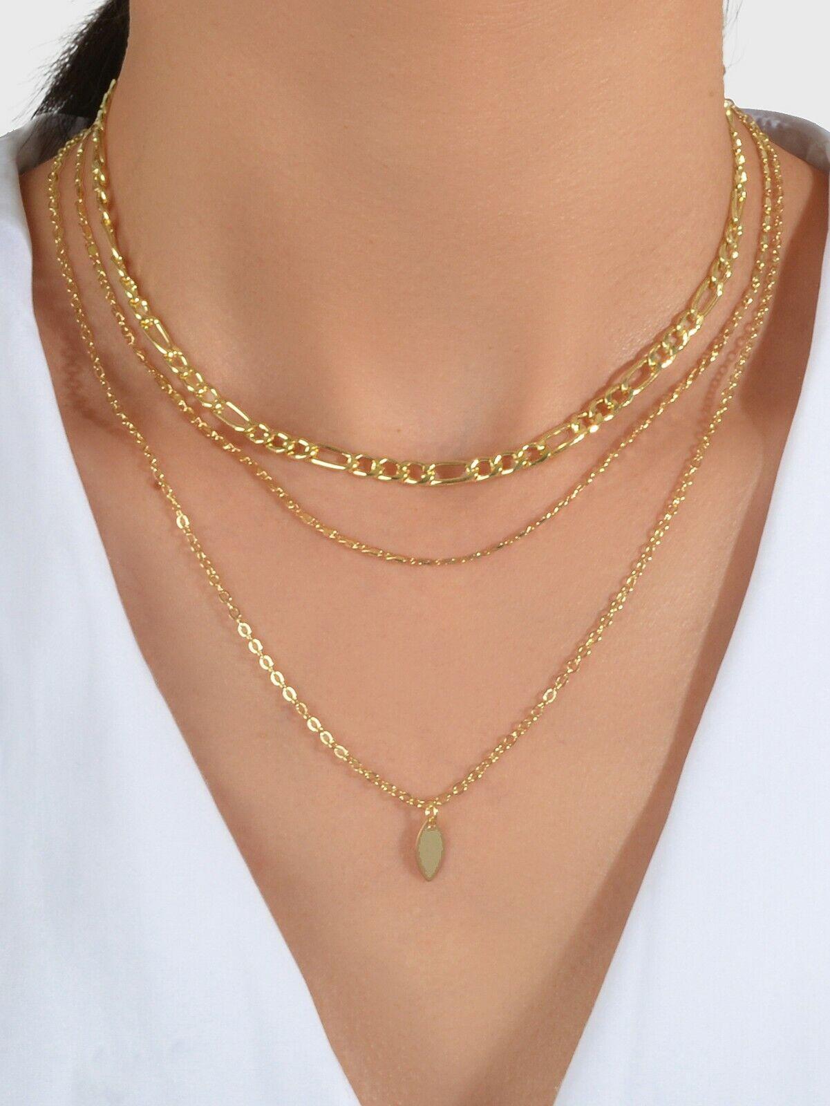 Jewellery - Women Boho Multi-Layer Choker Collar Drop Pendant Bib Necklace Jewellery Gift