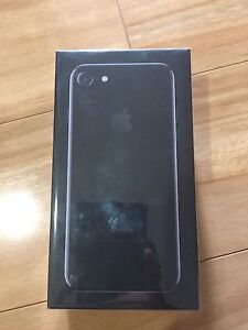 NEW IPHONE 7 Jet Black 128Gb Sealed Plastic Sunshine Brimbank Area Preview
