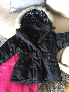 Girls 7/8 black winter jacket