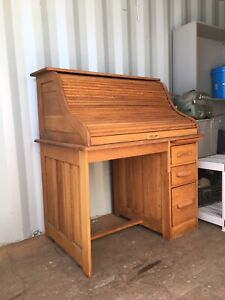 Antique Vintage Roll Top Desk