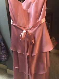 Pink Alfred Sung strapless dress size 12
