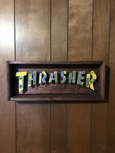 Thrasher skateboard art