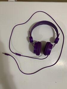 Purple Wired Studio Style Headphones