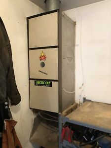 Oil, natural gas or propane down draft furnace