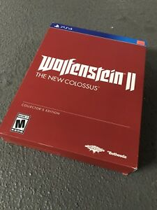 Wolfenstein 2: The New Colossus PS4 collectors edition BNIB