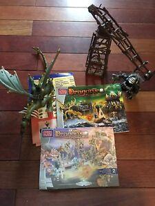 2003 Mega Bloks Dragons Krystal Wars 9885 9891