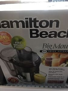 Hamilton beach big mouth juicer brand new in box