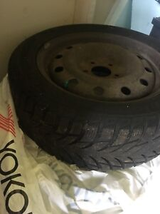 4 16 inch Winter Tires on steel rims (Like new)