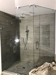 SHOWER GLASS DOORS ENCLOSURES RAILING STAIRS MIRRORS PARTITIONS
