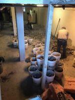 démolition et excavation de sous sol pour endroit restreint