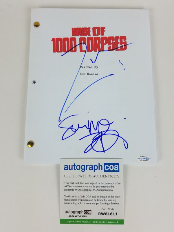 House of 1000 Corpses Autographed Script Rob Zombie Sheri Moon Zombie