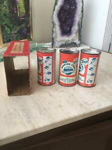 Very Rare 1950's 3 pack Outboard Motor oil Cans (NOS)