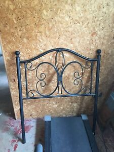 Selling single bed wrought iron headboard and frame