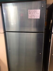 stainless steel brand new GE scratched fridge sale