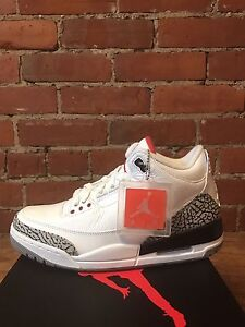 Air Jordan 3 Retro White/Cement Size 9
