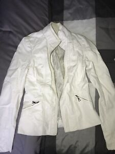 barley worn guess leather jacket -price is negotiable