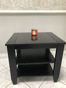 Black wood / quartz table for entryway, TV/media,  or bedroom.