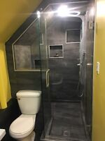 Custom showers, bathrooms, kitchens and basements