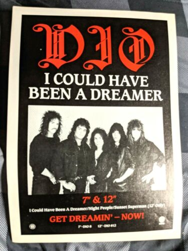 DIO / 1987 I COULD HAVE BEEN A DREAMER 7 & 12 INCH LP MAGAZINE PRINT AD +  DVD