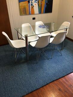 Large blue rug