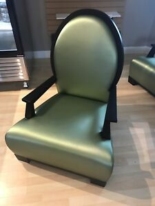 High end Lounge chairs -  satin finish
