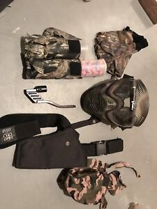 Paintball gun with holster and accessories