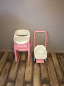 Little tikes stroller and high chair