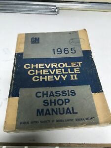 1965 Chevrolet chevelle Chevy II  chassis manual