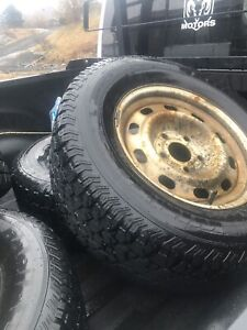 Dodge winter steel rims and tires