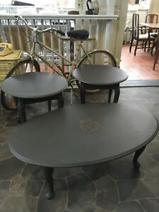 Refinished coffee table set $100