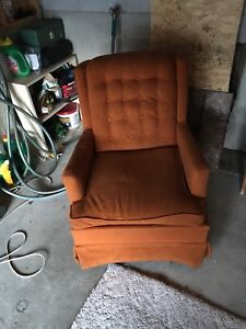 Vintage swivel and rocking chair