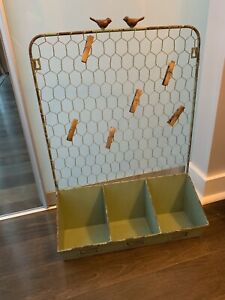*Rustic Wire Organizer with Bins