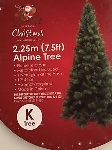 7.5 feet Christmas Tree and Decorations Port Kennedy Rockingham Area Preview