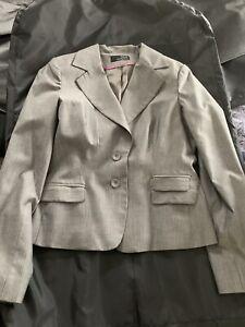 Seduce Grey Pinstrip Suit - Size 14