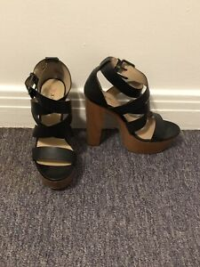 Black and brown high heels size 8