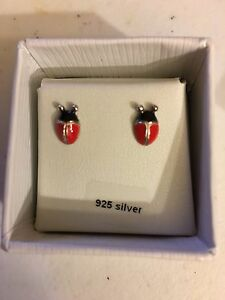 Ladybird earrings sterling silver - new, original box Box Hill Whitehorse Area Preview