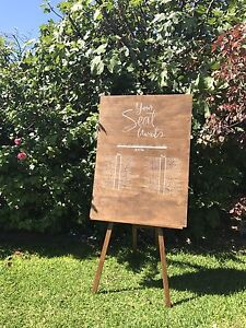 UNPLUGGED CEREMONY SIGN + WOODEN EASEL Floreat Cambridge Area Preview